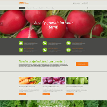 Agriculture Responsive Drupal Template