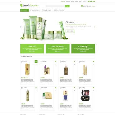 Cosmetics Store Responsive ZenCart Template