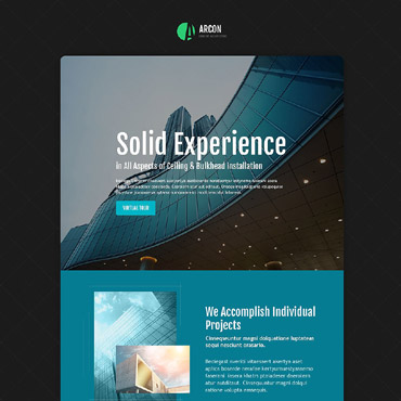 Architecture Responsive Landing Page Template