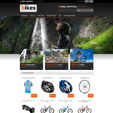 Cycling Responsive ZenCart Template #53687