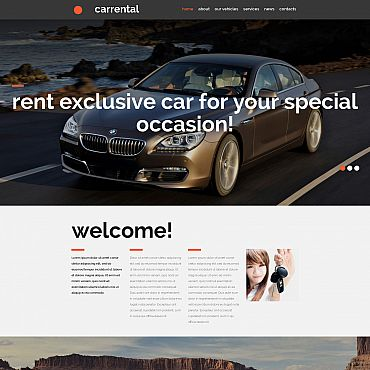 Car Rental Responsive Moto CMS 3 Template