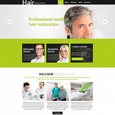 Hair Clinic Responsive Moto CMS 3 Template