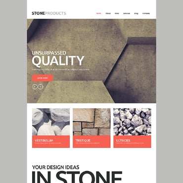 Flooring Products Website Template #53751