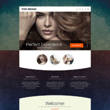 Model Agency Responsive Landing Page Template