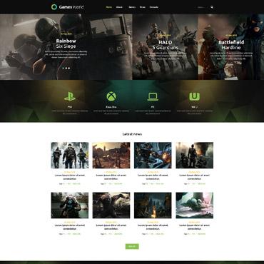 Game Portal Responsive Joomla Template