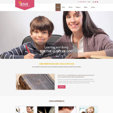 Christian Responsive Website Template