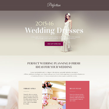 Wedding Venues Responsive Landing Page Template