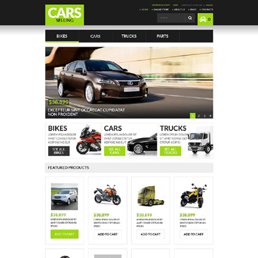 Car Rental Responsive VirtueMart Template