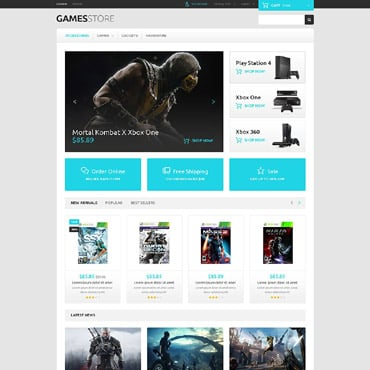 Game Portal Responsive PrestaShop Theme