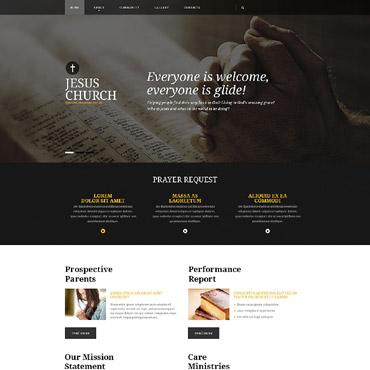 Presbyterian Responsive Website Template #53923