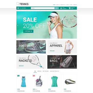 Tennis Responsive WooCommerce Theme