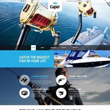Fishing Responsive Website Template