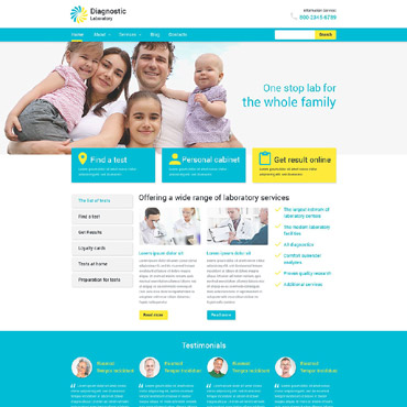 Diagnostic Laboratory WordPress Theme #53983