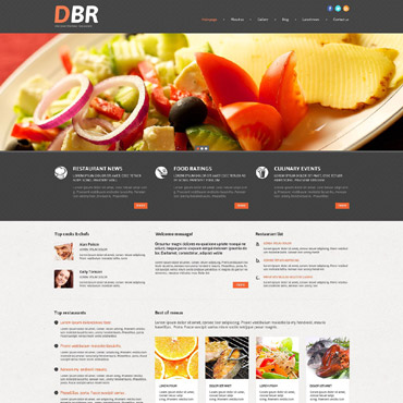 European Restaurant Responsive WordPress Theme #53999