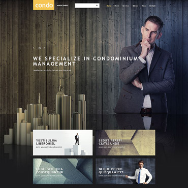 Asset Management Website Template #54015
