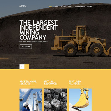 Mining Company Website Template #54019