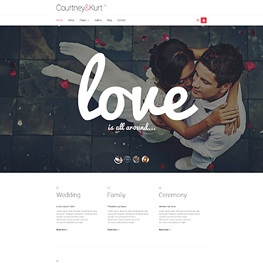 Wedding Responsive Joomla Template #54027