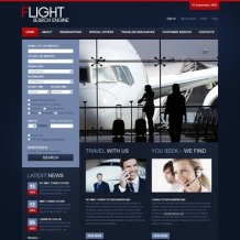 Airline Tickets PSD Template