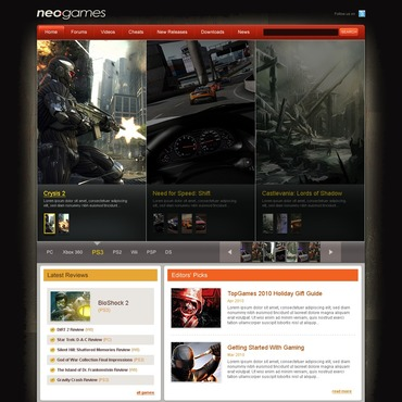 Games PSD Template
