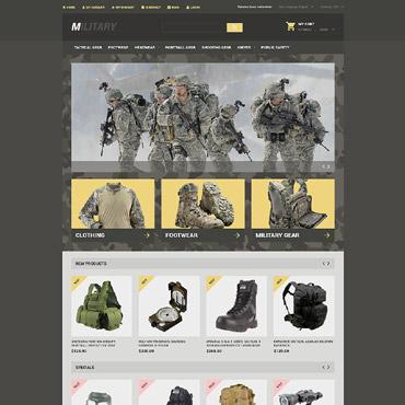 Military Responsive Magento Theme