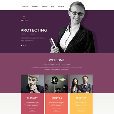 Law Office Drupal Template #54611