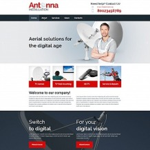 Satellite TV Responsive Moto CMS 3 Template