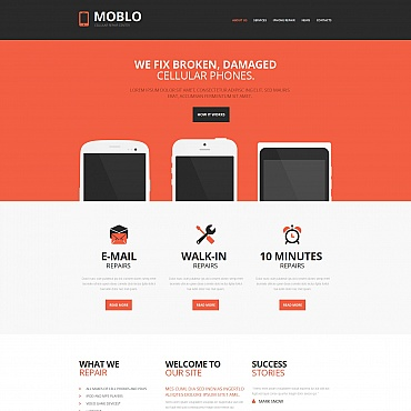 Mobile Repair Service Moto CMS HTML Template