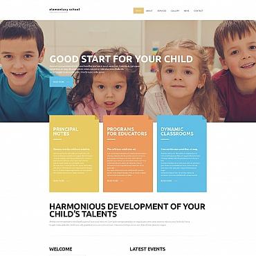 Elementary School Moto CMS HTML Template