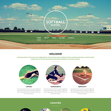 Baseball Responsive Website Template