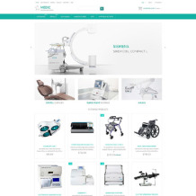 Medical Equipment Responsive ZenCart Template