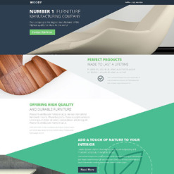 Interior & Furniture Responsive Landing Page Template