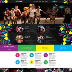 Skating Responsive Website Template