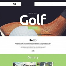 Golf Moto CMS HTML Template