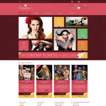 Tickets Website OsCommerce Template