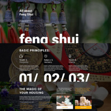Feng Shui Responsive Landing Page Template