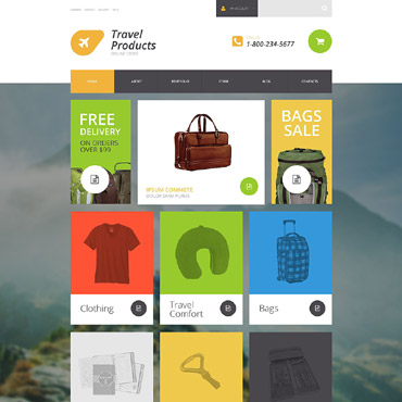 Travel Store Responsive WooCommerce Theme