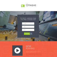 Radio Website Responsive Landing Page Template
