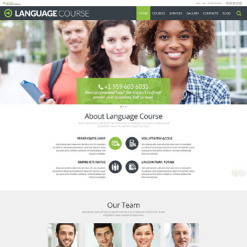 Language School Responsive WordPress Theme