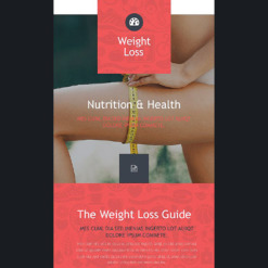 Weight Loss Responsive Newsletter Template