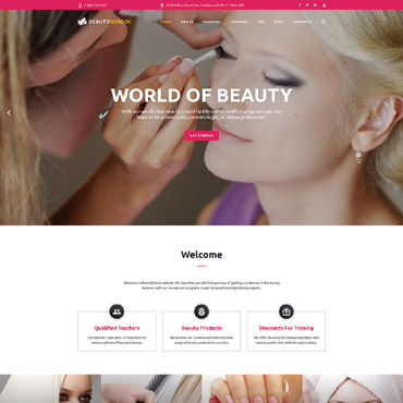Beauty School Responsive Website Template #55107