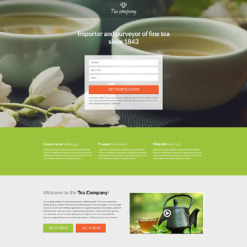 Tea Shop Responsive Landing Page Template
