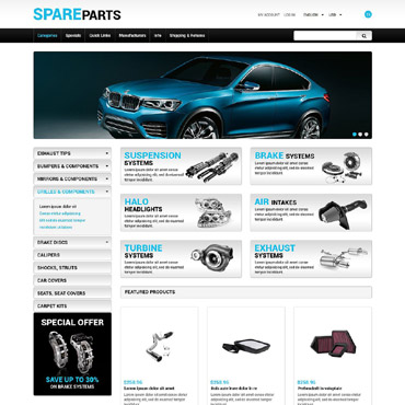 Spare Parts ZenCart Template #55219