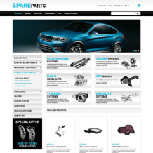 Auto Parts Responsive ZenCart Template
