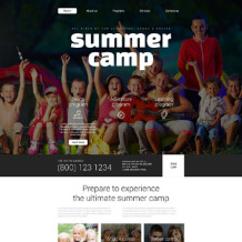 Summer Camp Responsive Website Template