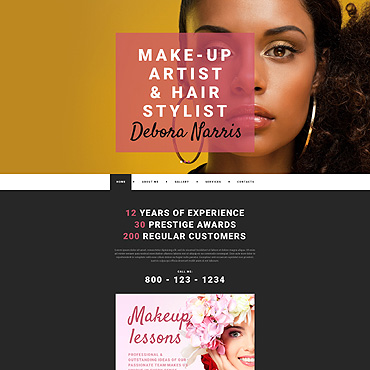 Personal Page Responsive Website Template #55283