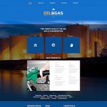Gas & Oil Responsive Moto CMS 3 Template