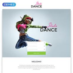 Dance Studio Responsive Landing Page Template