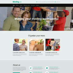 Moving Company Muse Template