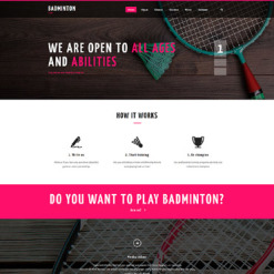 Badminton Responsive Website Template