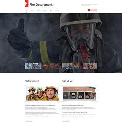 Fire Department Responsive WordPress Theme